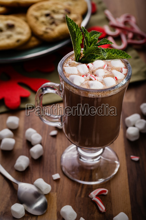 hot, chocolate, with, bits, of, candy - 23479157