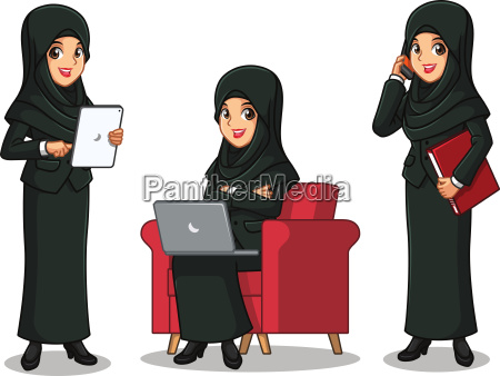 set of businesswoman in black suit