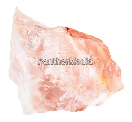 raw crystal of rose quartz gemstone