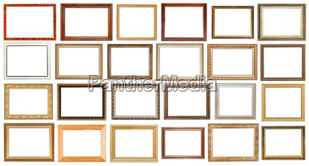 set of vintage wide wooden picture