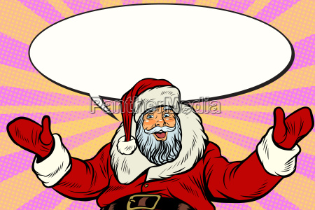 promoter, santa, claus, with, comic, bubble - 23491751