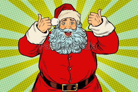 thumb, up, happy, santa, claus - 23491691