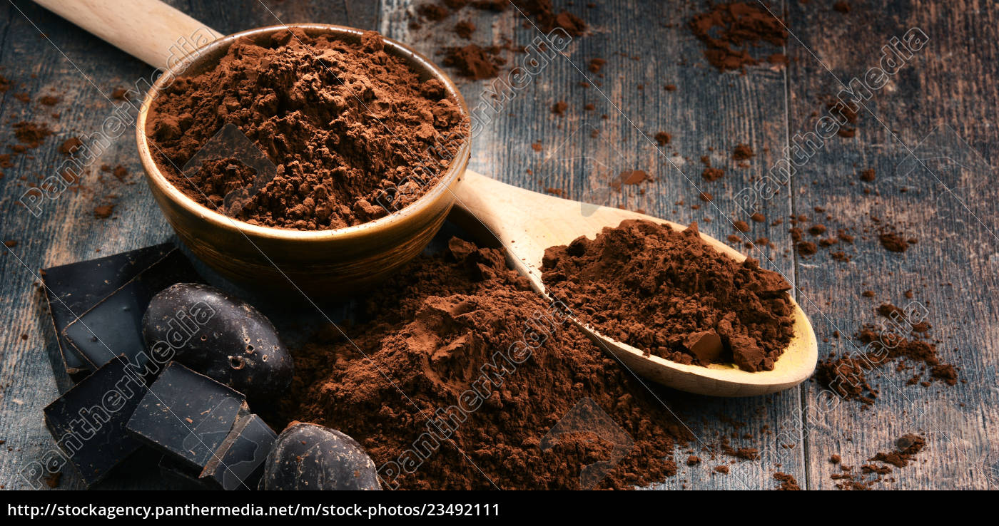 composition, with, bowl, of, cocoa, powder - 23492111