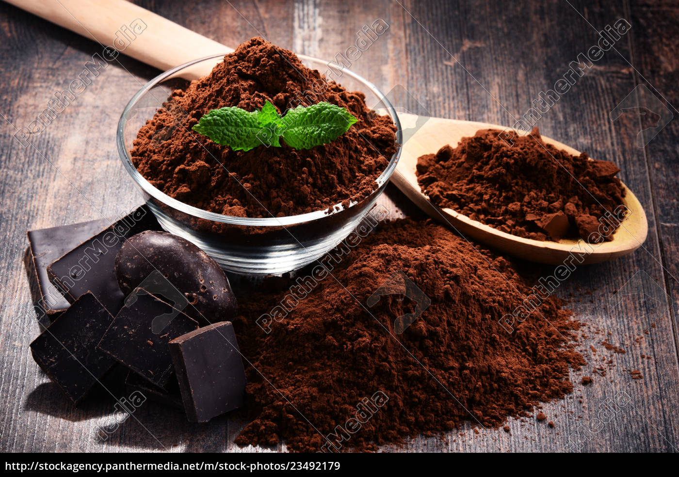 composition, with, bowl, of, cocoa, powder - 23492179