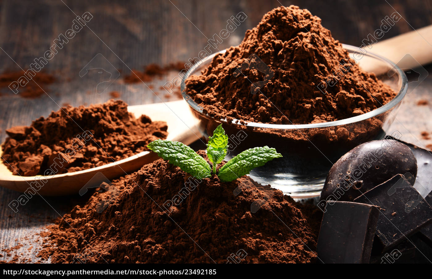 composition, with, bowl, of, cocoa, powder - 23492185