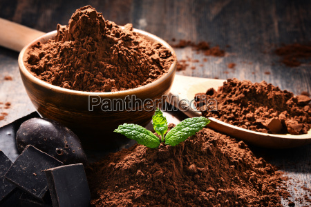 composition, with, bowl, of, cocoa, powder - 23492191