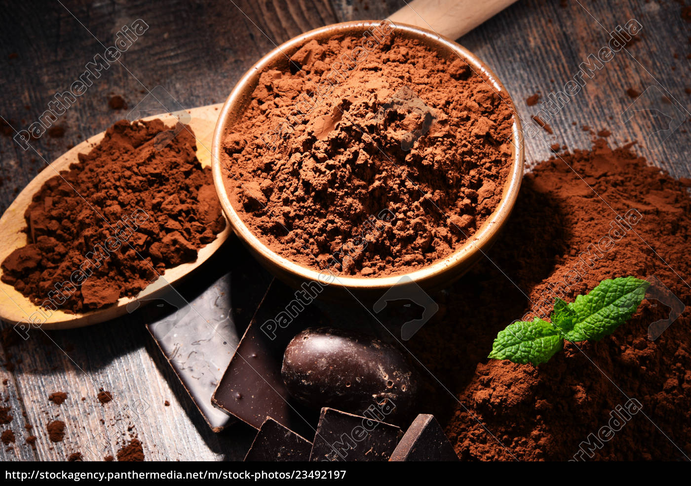 composition, with, bowl, of, cocoa, powder - 23492197
