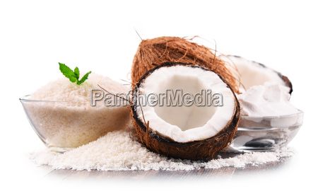 composition, with, shredded, coconut, and, shells - 23492077