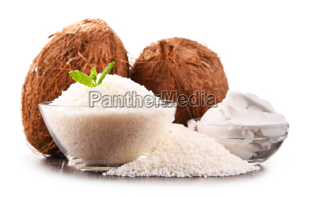 composition, with, shredded, coconut, and, shells - 23492097