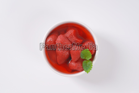 bowl of strawberry compote