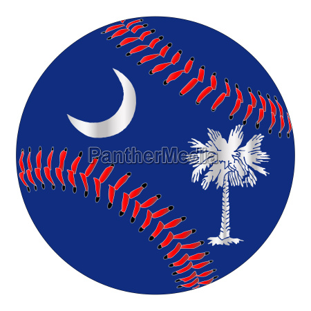 south carolina flag baseball