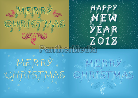 new years and christmas country cards