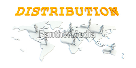 distribution concept with business team