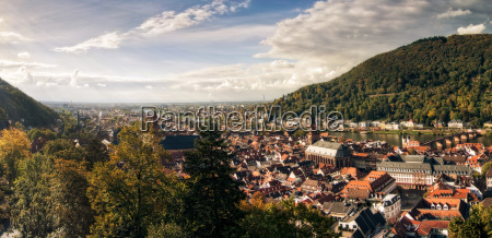 heidelberg from the castle photographed as