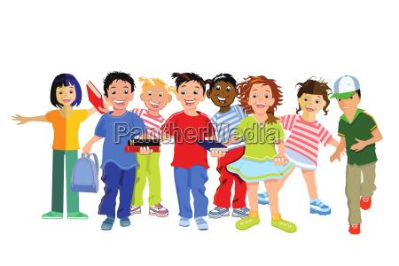 children laugh and are happy