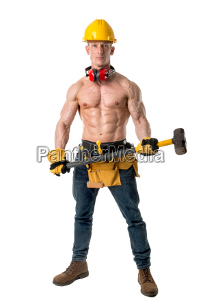 powerful, construction, worker - 23507656