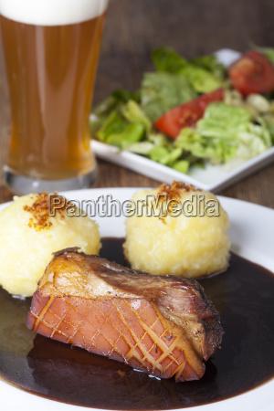 close up of a bavarian pork