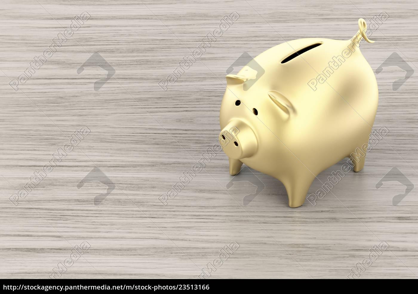 golden, piggy, bank - 23513166