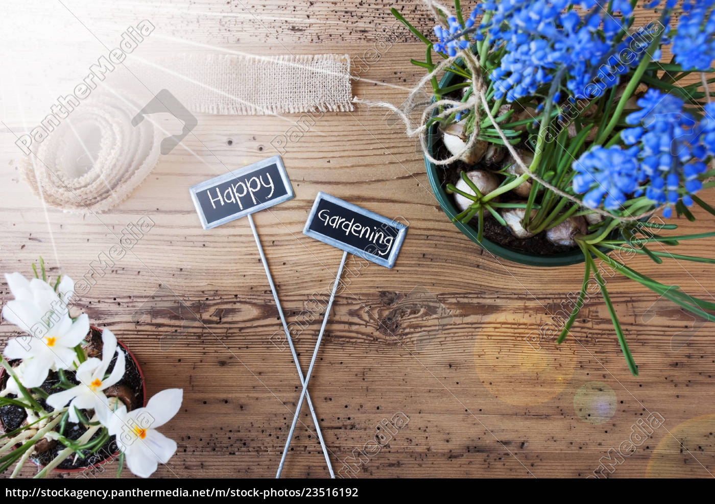 sunny, flowers, , signs, , text, happy, gardening - 23516192