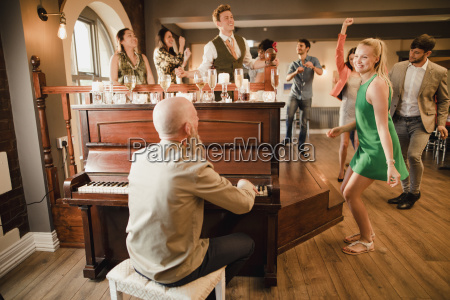 wedding, guests, having, fun, with, the - 23516760