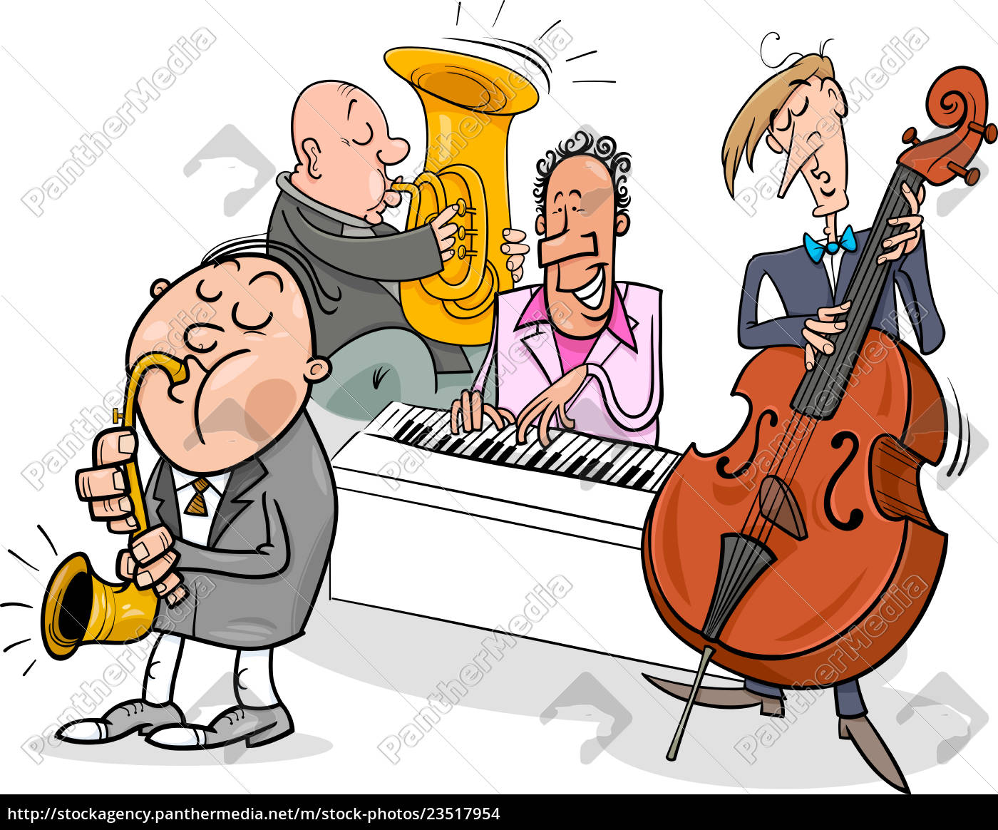musicians, characters, playing, jazz, music - 23517954