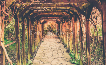 retro pathway in the park