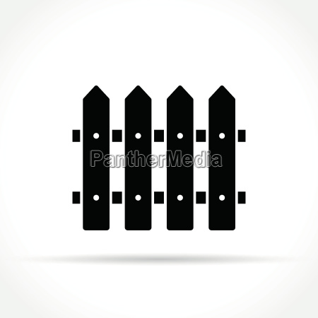 fence icon on white background