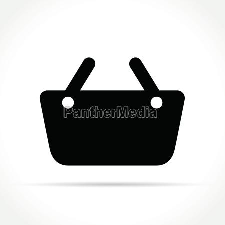 basket icon on white background