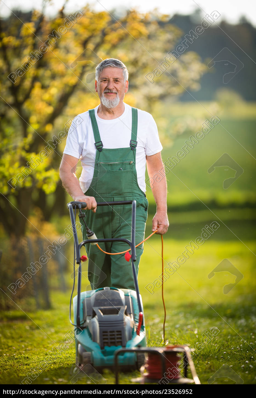 portrait, of, senior, man, gardening, , taking - 23526952