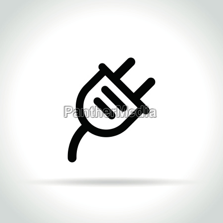 electric plug icon on white background