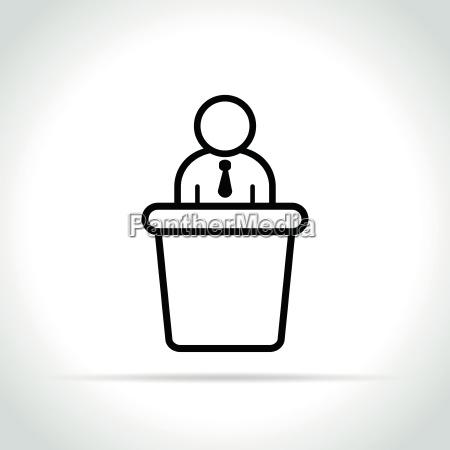 meeting icon on white background