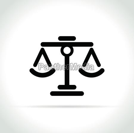 scales icon on white background