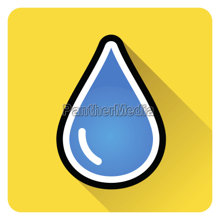 drop water icon with shadow