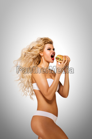 eating, burger. - 23538790