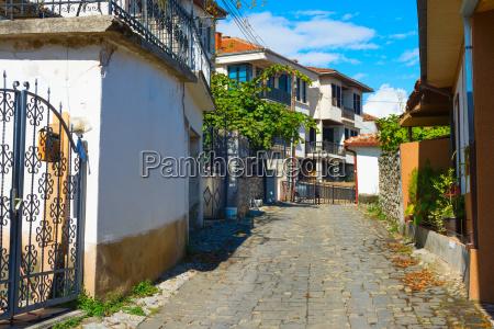 old town street ohrid macedonia