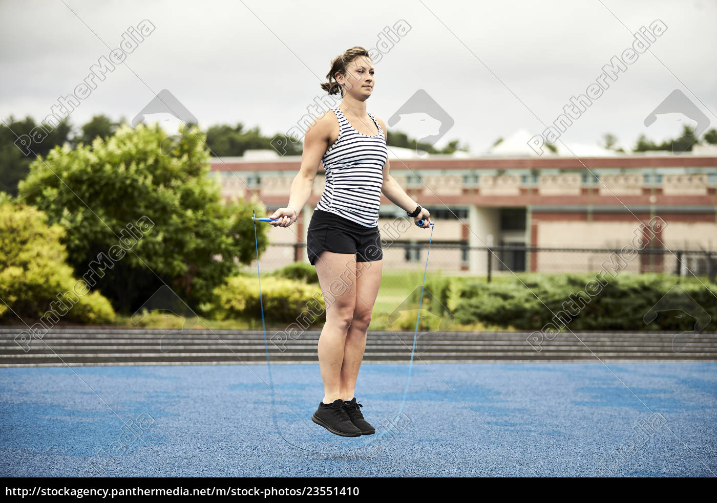 woman, jumping, rope, outdoors, , lincoln, , massachusetts, - 23551410