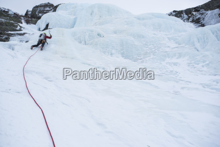 low angle view of man climbing