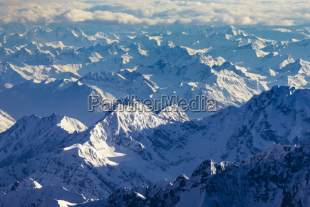 aerial view of landscape with mountains