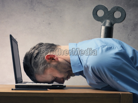 business, man, sleeping, on, laptop - 23555090