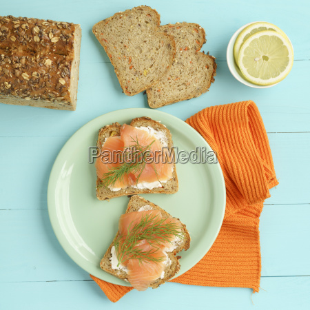 carrot bread with cream cheese and