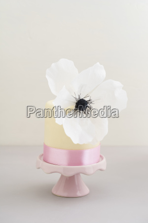 mini fancy cake with fondant and