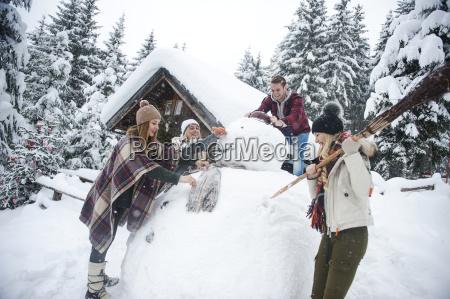 austria altenmarkt zauchensee friends building up
