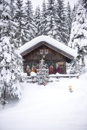 austria altenmarkt zauchensee friends decorating christmas