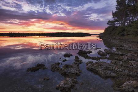 croatia istria kamenjak natural park sunrise