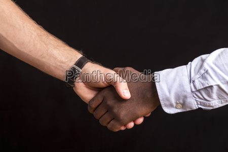 two men shaking hands close up