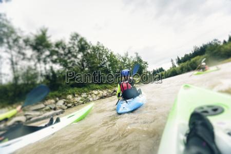 germania baviera algovia kayak sul fiume