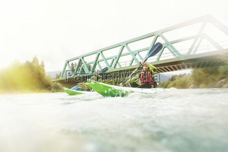 germania baviera algovia coppia di kayak