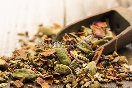 mixture for spicy tea infusion