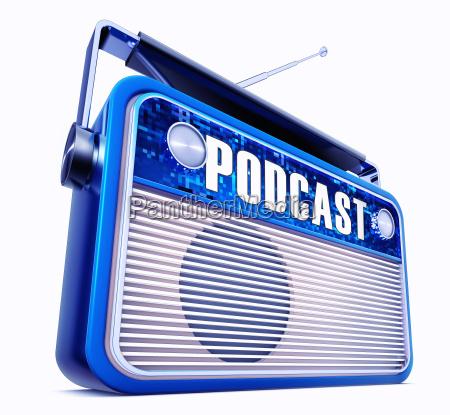 3d rendering of an vintage radio