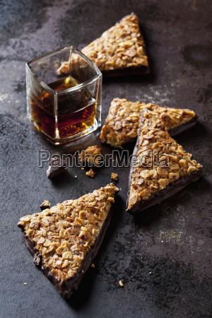 freshly baked nut triangles